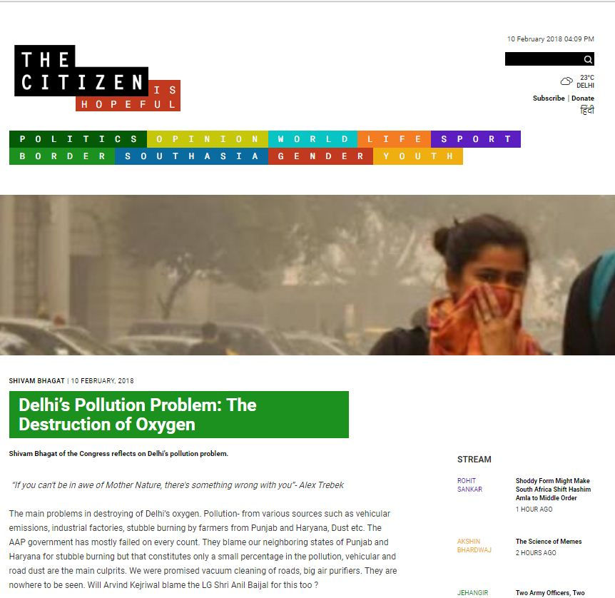 Solve Delhi's Air Pollution Problem with new delhi nature society and volunteer to save environment