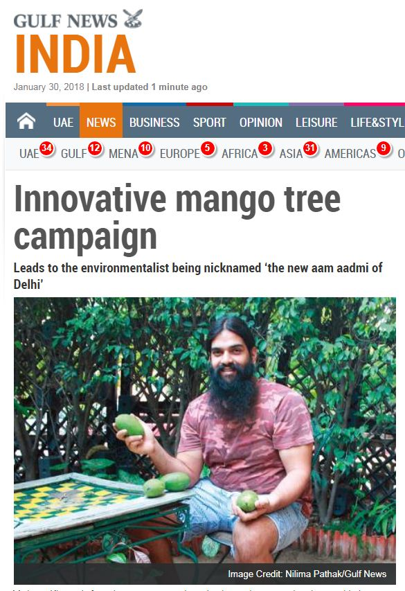 Innovative mango trees campaign. join new delhi nature society ngo in this campaign