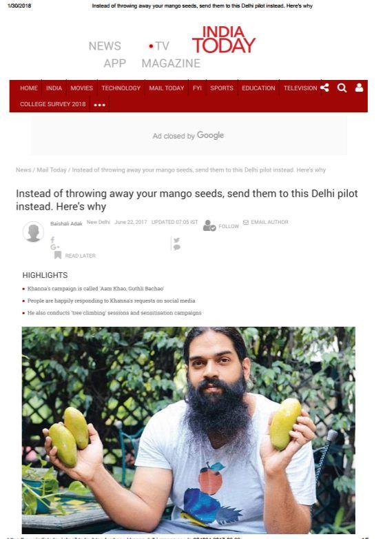 don't throw away mango seeds, send them to new delhi nature society.