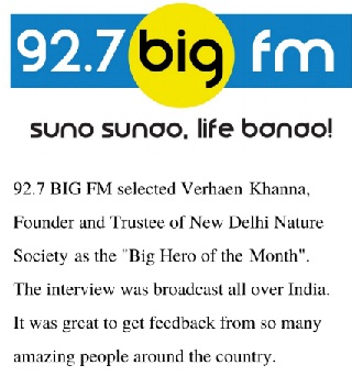 92.7 fm, verhaen khanna's interview on environmental activities