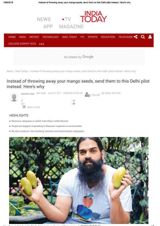 don't throw away mango seeds, send them to new delhi nature society.