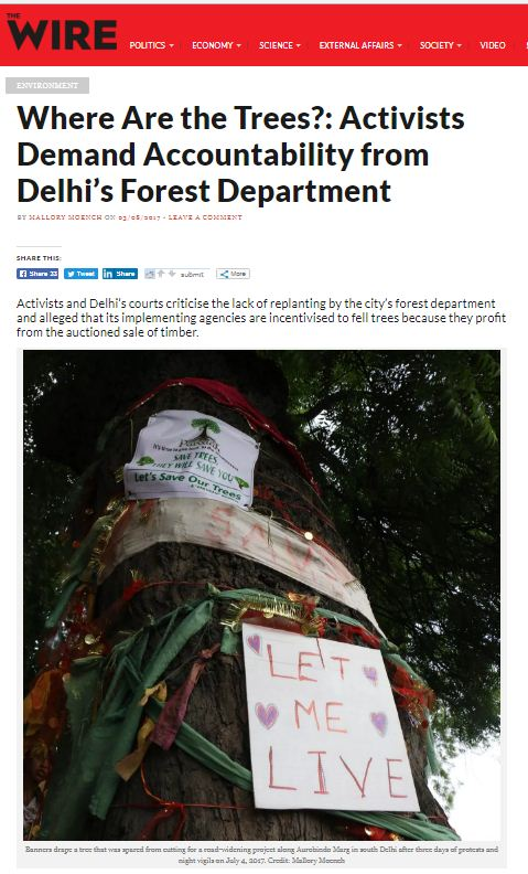 Where are the trees, NDNS activist expose forest department lack of replanting activities in delhi
