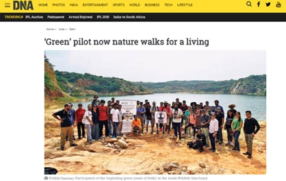 Verhaen Khanna, new delhi nature society' co founder now walks nature for living