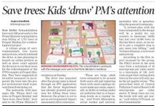 SAve Trees: Kids draw PM's attention. help ndns ngo raise a war against insensitive actions of authority